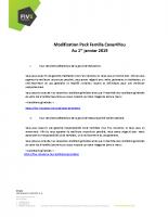 Modifications Pack Famille CG Habitation et RC Familiale 012019