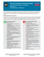 IPID – Assistance Premium et Sérénité